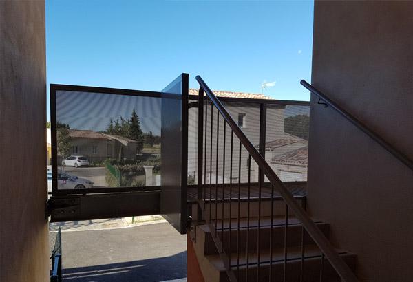 Travaux par bonhomme métallerie pour Adis SA HLM, escaliers métalliques