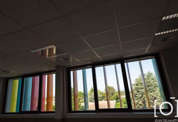 Travaux au groupement scolaire de Chabeuil par Bonhomme Métallerie, menuiseries aluminium