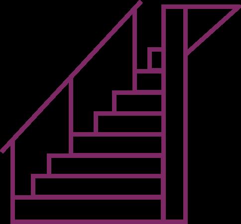 Icône qui représente un escalier