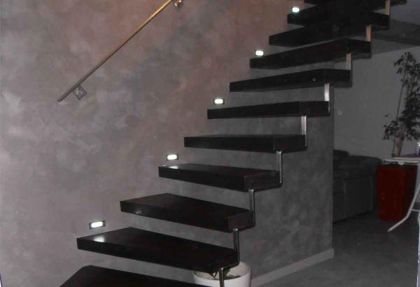 escalier intérieur structure métal
